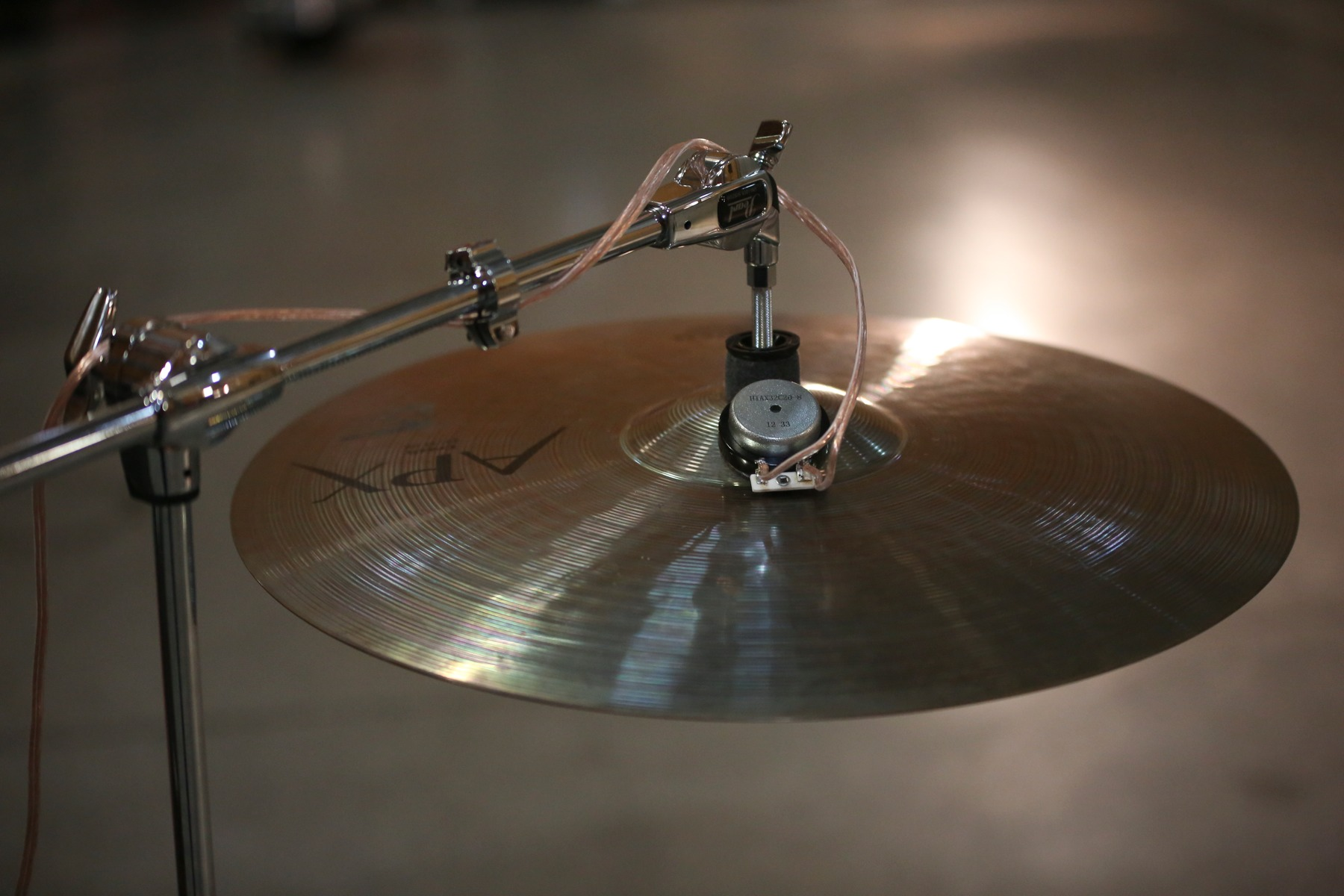 Cymbal actuator in action