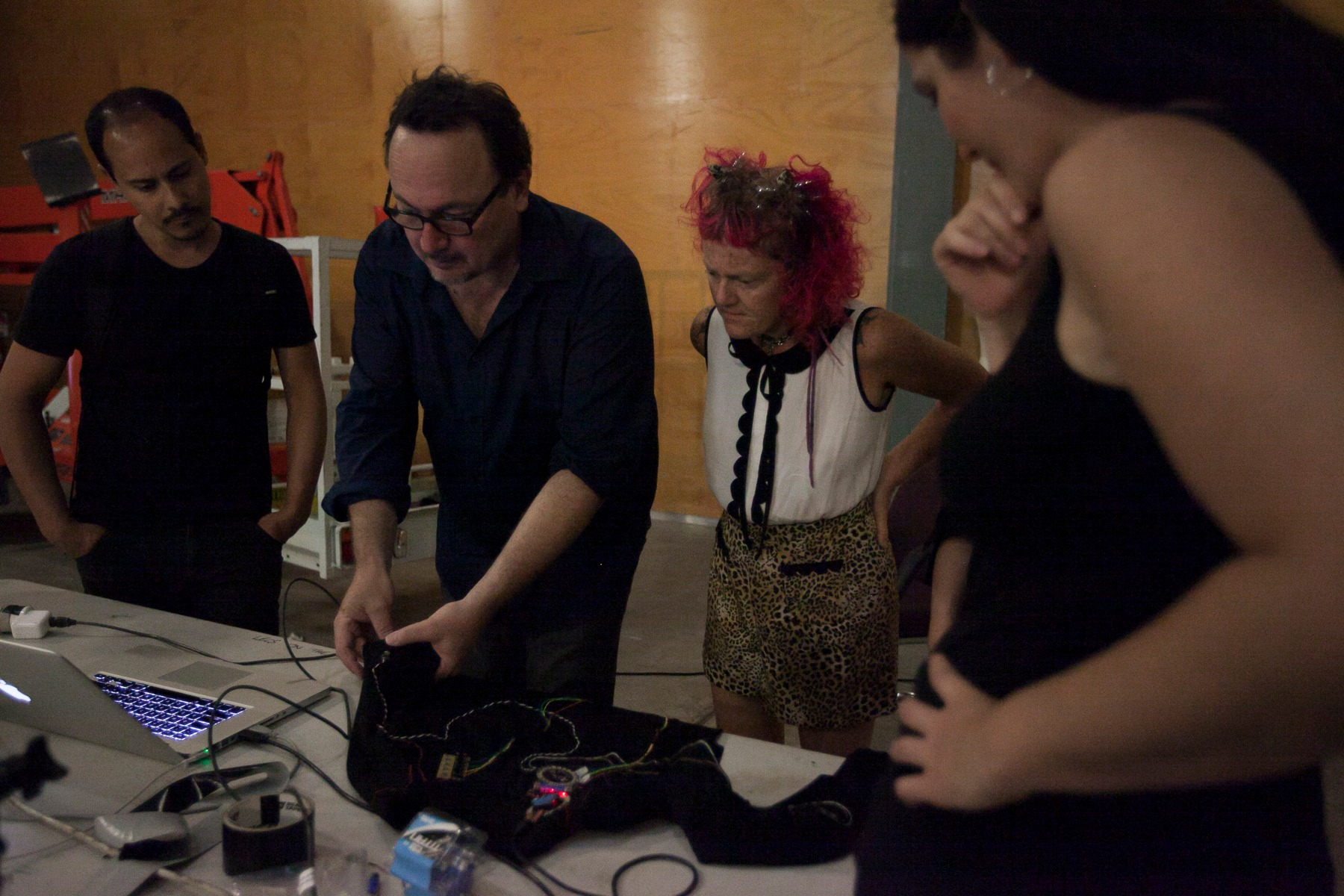 Julian demonstrating sensors